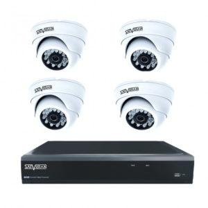 Комплект из 4 внутренних видеокамер 1 Mpix и видеорегистратора в Екатеринбурге